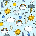Seamless weather background Royalty Free Stock Image