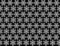 Seamless weathercock snowflakes pattern on background.