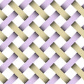 Seamless weaving pattern with clipping patch Stock Image