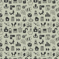 Seamless web icon pattern Stock Photography