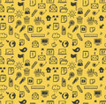 Seamless web icons pattern Royalty Free Stock Images