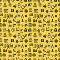 Seamless web icons pattern Royalty Free Stock Image