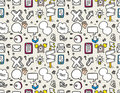 Seamless web icons pattern Royalty Free Stock Photos