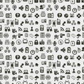 Seamless web icons pattern. Vector illustration. Stock Photos