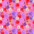 Seamless wedding pattern Stock Photo