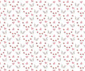 Seamless wedding pattern with swans and hearts