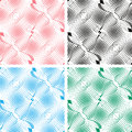 Seamless white abstract pattern background in four colors is presented Royalty Free Stock Images