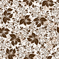Seamless White-brown Floral Pa...