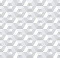 Seamless white 3d hexagons pattern.