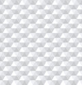 Seamless white 3d hexagons pattern.