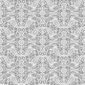Seamless white lace floral pattern Stock Photography