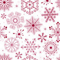 Seamless white-red christmas pattern Royalty Free Stock Photos