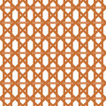 Seamless wicker pattern interleaved interwoven bands in a hexagon with cross stripes on white background Stock Photo