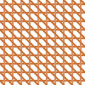 Seamless wicker pattern interleaved interwoven bands in a hexagon on white background Stock Photos