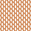 Seamless wicker pattern interleaved interwoven bands in a hexagon on white background Royalty Free Stock Photo