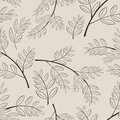 Seamless wild ash branches beige pattern Royalty Free Stock Images