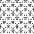 Seamless windmill pattern Royalty Free Stock Photo