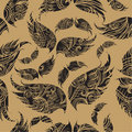 Seamless wings pattern Royalty Free Stock Photos