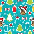 Seamless winter pattern, Christmas Stock Images