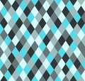 Seamless winter pattern rhombus in shades of blue Royalty Free Stock Image