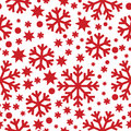 Seamless winter pattern with snowflakes Stock Images