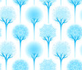 Seamless winter tree pattern Royalty Free Stock Images