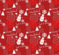 Seamless Winter Wonderland Pattern Royalty Free Stock Photography