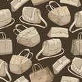 Seamless woman's stylish bags retro pattern Stock Image