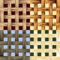 Seamless wooden lath pattern set of patterns drawn in fore different color variations Royalty Free Stock Photography