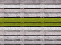 Seamless wooden texture of floor or pavement with green line, wooden pallet Royalty Free Stock Photo