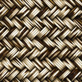 A seamless woven wicker material Royalty Free Stock Image