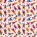 Seamless wrestler pattern Stock Photos