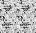 Seamless xmas pattern cartoon vector illustration Stock Photography