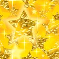 Seamless xmas pattern raster version of vector shining background with gold foil stars there is in addition a vector format eps Royalty Free Stock Image