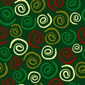 Seamless xmas pattern with spirals Royalty Free Stock Photo