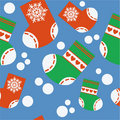 Seamless xmas stocking ornament in color 64