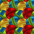 Seamless yarn balls background pattern Royalty Free Stock Photo
