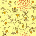 Seamless yellow floral background Royalty Free Stock Image