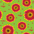 Seamless yellow red gerbera pattern Royalty Free Stock Photo