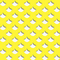 Seamless yellow river fish scales Royalty Free Stock Photo