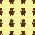 Seamless Yellow Teddy Bear Patten