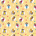 Seamless yoga pattern Stock Images