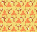 Seamless yoga symbols pattern decorative background with and positions vector illustration Royalty Free Stock Photography