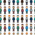 Seamless young boy pattern Stock Photo