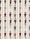 Seamless young boy pattern Stock Photo