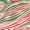 Seamless zebra stripe pattern. Vector animal skin background print. Royalty Free Stock Photo