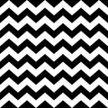 Seamless zig zag pattern in black and white Royalty Free Stock Photo