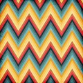 Seamless zig zag striped background Stock Photo