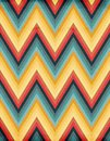Seamless zig zag striped background Royalty Free Stock Images