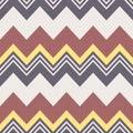 Seamless zig zag stripes pattern Royalty Free Stock Photo